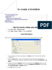 How to Create a Table Sara Gonzalez Martinez Tutorial