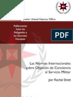 LAS NORMAS INTERNACIONALES SOBRE OBJECIÓN DE CONCIENCIA  AL SERVICIO MILITAR
