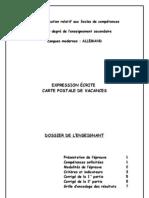 Outils d évaluation secondaire 1dg - allemand - carte postale de vacances - dossier de l enseignant (ressource 970)