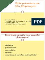 C4 Propriet-+ó+-óile parazitare ale fitopatogenilor
