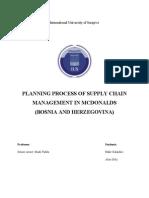 Supply Chain Projekat 2 Mcdonalds