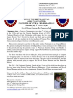 News Release - Old Fashioned Fourth of July at Newell House 2013