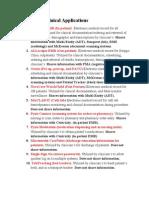 clinical applications descriptions