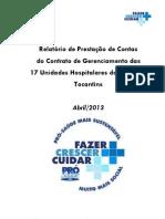Relatório Abril 2013
