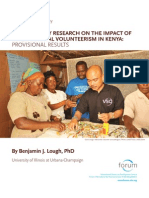 Participatory Research on International Volunteer