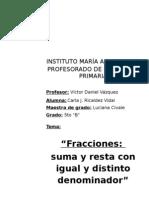 Nuevo Propuesta de Matematica Fracciones