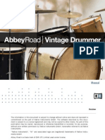 Abbey Road Vintage Drummer Manual English