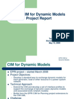 EPRI CIM for Dynamic Models Project Report 051309