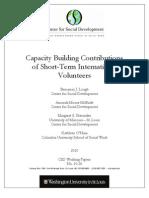 Capacity Building Contributions of Short-Term InternationalVolunteers