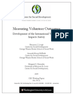 Measuring Volunteer Outcomes