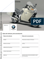 Manual de Intrucciones Bmw k 1200 Gt