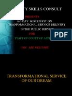 Workshop on Service Delivery