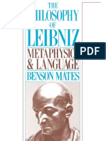 Benson Mates - The Philosophy of Leibniz~ Metaphysics and Language - Oxford University Press, USA