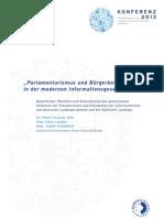Parlamentarismus in der Informationsgesellschaft