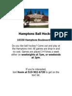 Hamptons Ball Hockey