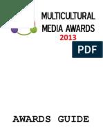 Multicultural Media Awards Guide 2013