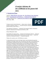 Selección del mejor sistema de levantamiento artificial en los pozos del Campo Arauca