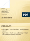 """""""environmental courts"""" Introduction History Factors in Success List of Courts  Court Guidelines References"""
