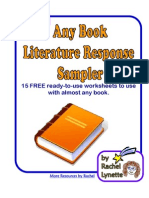 Free Any Book Literature Sampler Print Able Pages