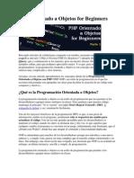 PHP Orientado a Objetos for Beginners