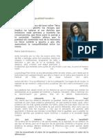 Los Costos de La Igualdad Hombre-mujer Pilar Sordo