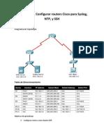 Actividad PT Configurar Sever NTP y Syslog