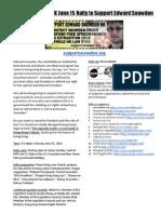 Press Release - Edward Snowden Rally