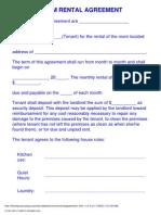 Room Rental Agreement 1