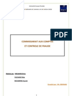 Commissariat aux comptes et contrôle de fraude