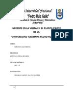 Informe en La Visita en El Planta Piloto de La