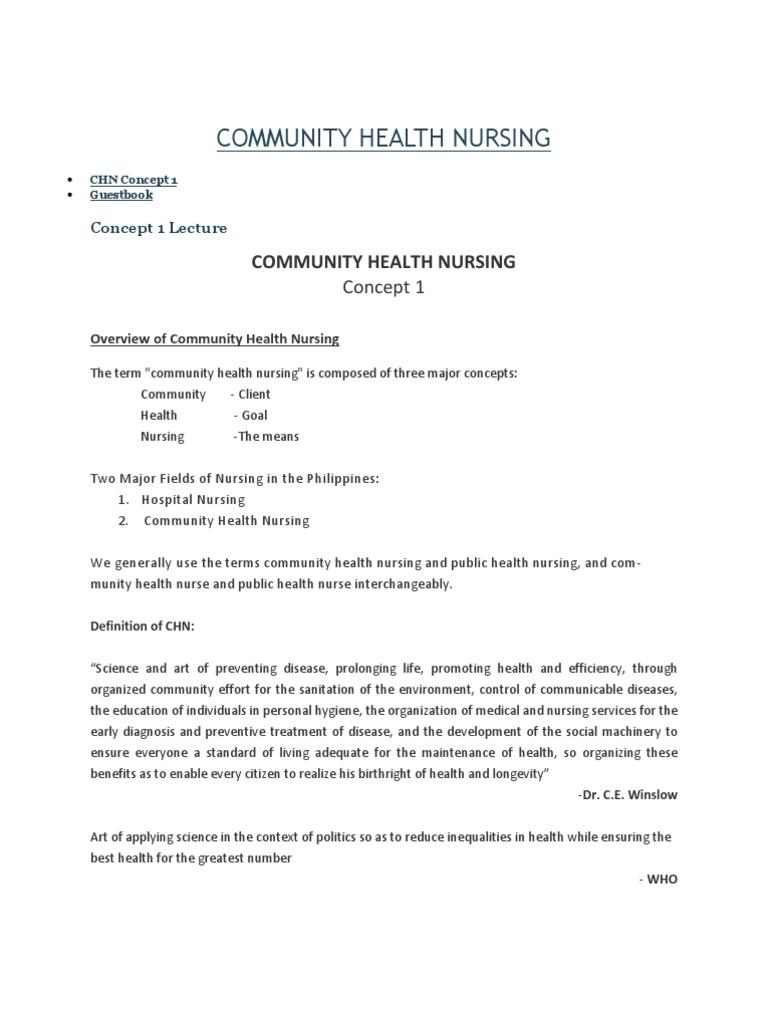 community health nursing concept 1 | nursing | public health