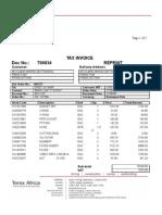 Invoice T00834