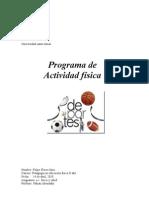 Programa de Acitividad Fisica