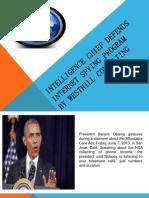 Intelligence Chief Defends Internet Spying Program