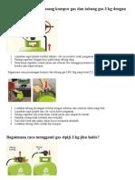 Bagaimana Cara Memasang Kompor Gas Dan Tabung Gas 3 Kg Dengan Benar