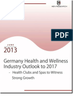 Germany Health and Wellness Market to reach USD 37,839 million by 2017