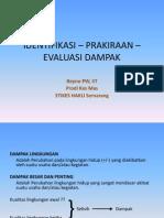AMDAL 6 - IDENTIFIKASI – PRAKIRAAN – EVAL UASI DAMPAK