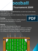 Foosball Rules Poster