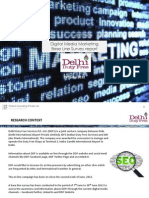 Baseline Survey on Digital Media Marketing