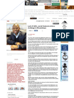 Mining Weekly Online - Lack of Skills, Social Licence to Mine a Challenge in Mozambique 7 June 2013 (1)