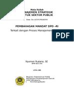 MANDAT DPD RI - Proses Manajemen Strategik