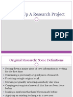 Setting Up a Research Project