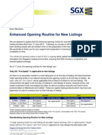 SGX-ST Enhancements to Opening Routine for New Listings June2013