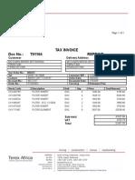 Invoice T01164