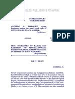 Marquez vs. Hon. Secretary of Labor, G.R. No. 80685, March 16, 1989