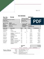 Invoice T01198