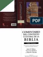John H. Walton - Victor H. Matthews - Mark W. Chavalas, Comentario Del Contexto Cultural de La Biblia At