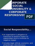 2.CORPORATE SOCIAL RESPONSIBILITY & CORPORATE RESPONSIVENESS