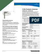 5+GHz+Directional Parabolic Antenna Datasheet