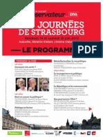 Programme Strasbourg